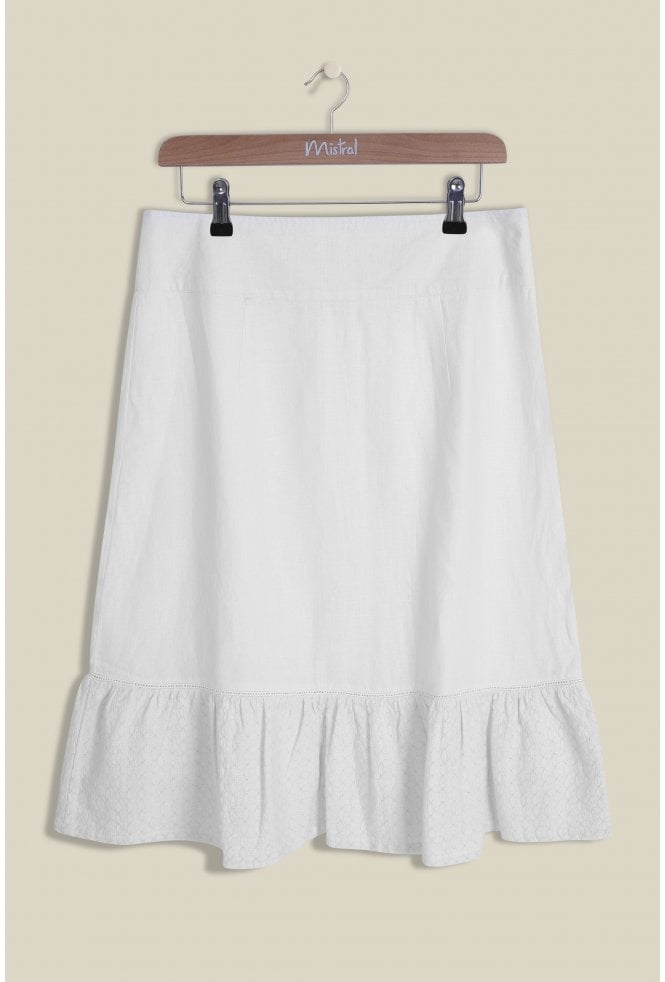 Mistral Filly Milly Linen Skirt for Ladies in White