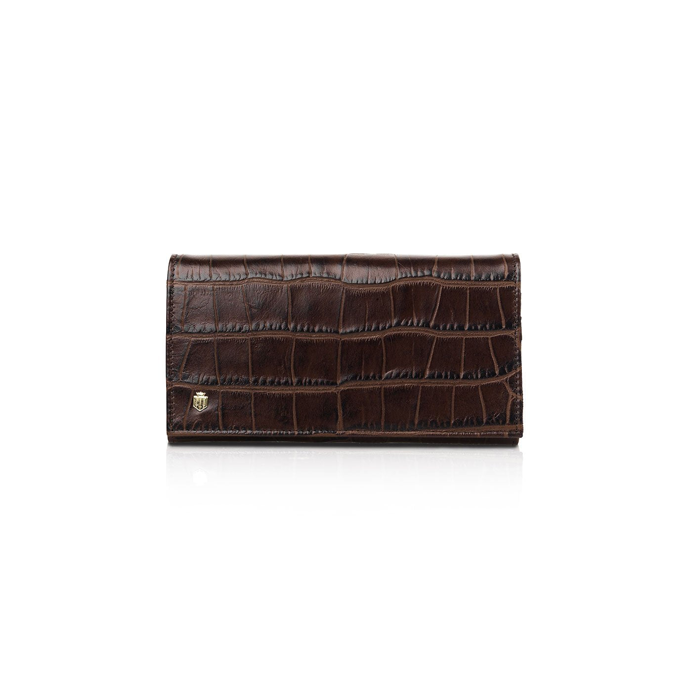 Fairfax and Favor Grosvenor Purse for Ladies in Chocolate Croc