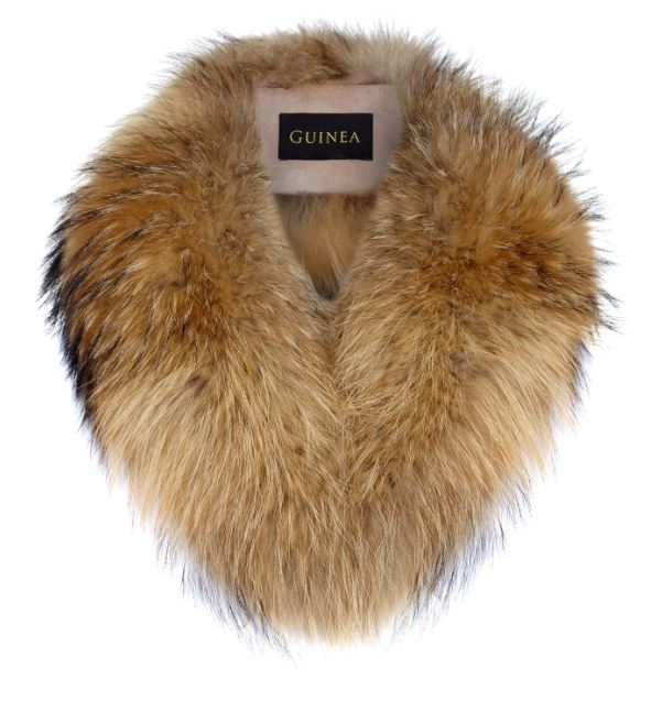 Guinea Fur Collar for Ladies in Natural