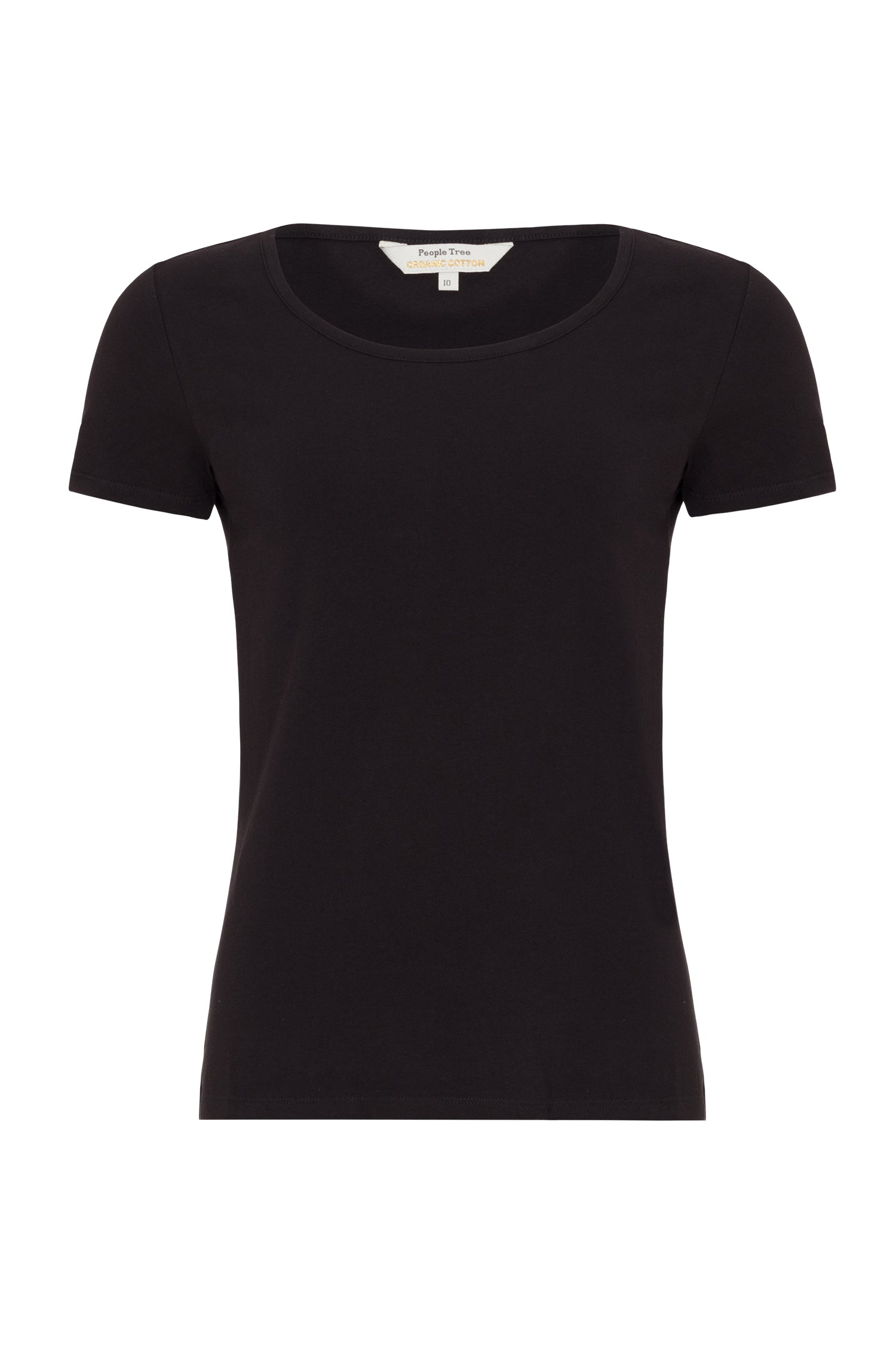 People Tree Gaia Tee for Ladies in Black