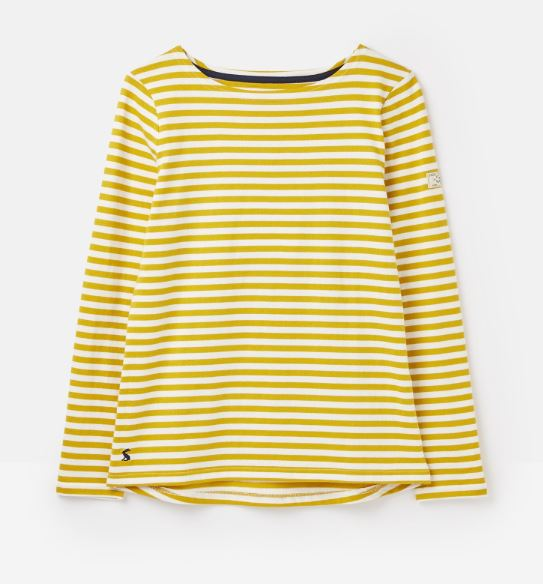 Joules Harbour Top for Ladies in Gold Multi Stripe
