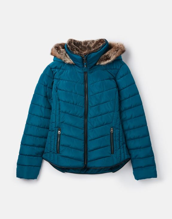 Joules Gosway Quilted Jacket for Ladies in Dark Teal