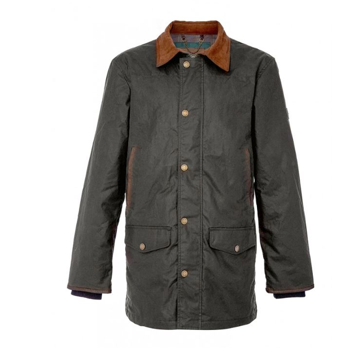 Dubarry Headford Wax Jacket for Men in Olive