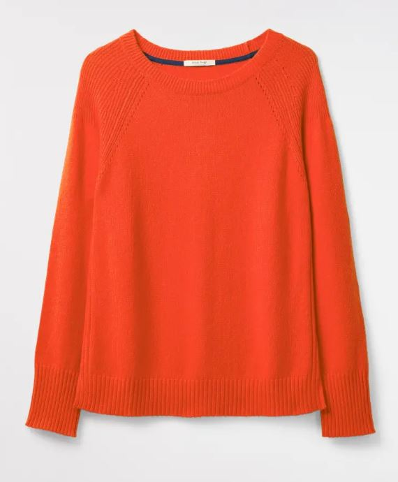White Stuff Hearth Jumper for Ladies in Foxy Orange