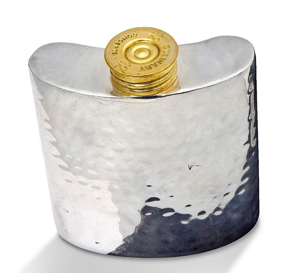 Culinary Concepts Small Hip Flask in Silver