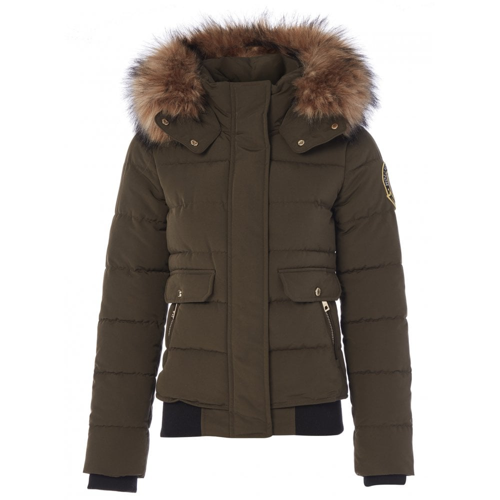 Holland Cooper Ventina Puffer Jacket for Ladies in Khaki