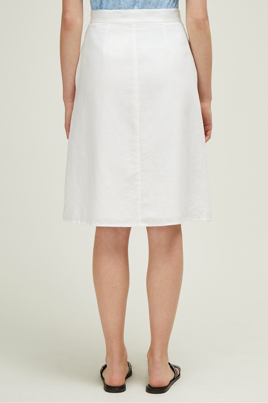 Great Plains Dana Blend Midi Skirt for Ladies in White