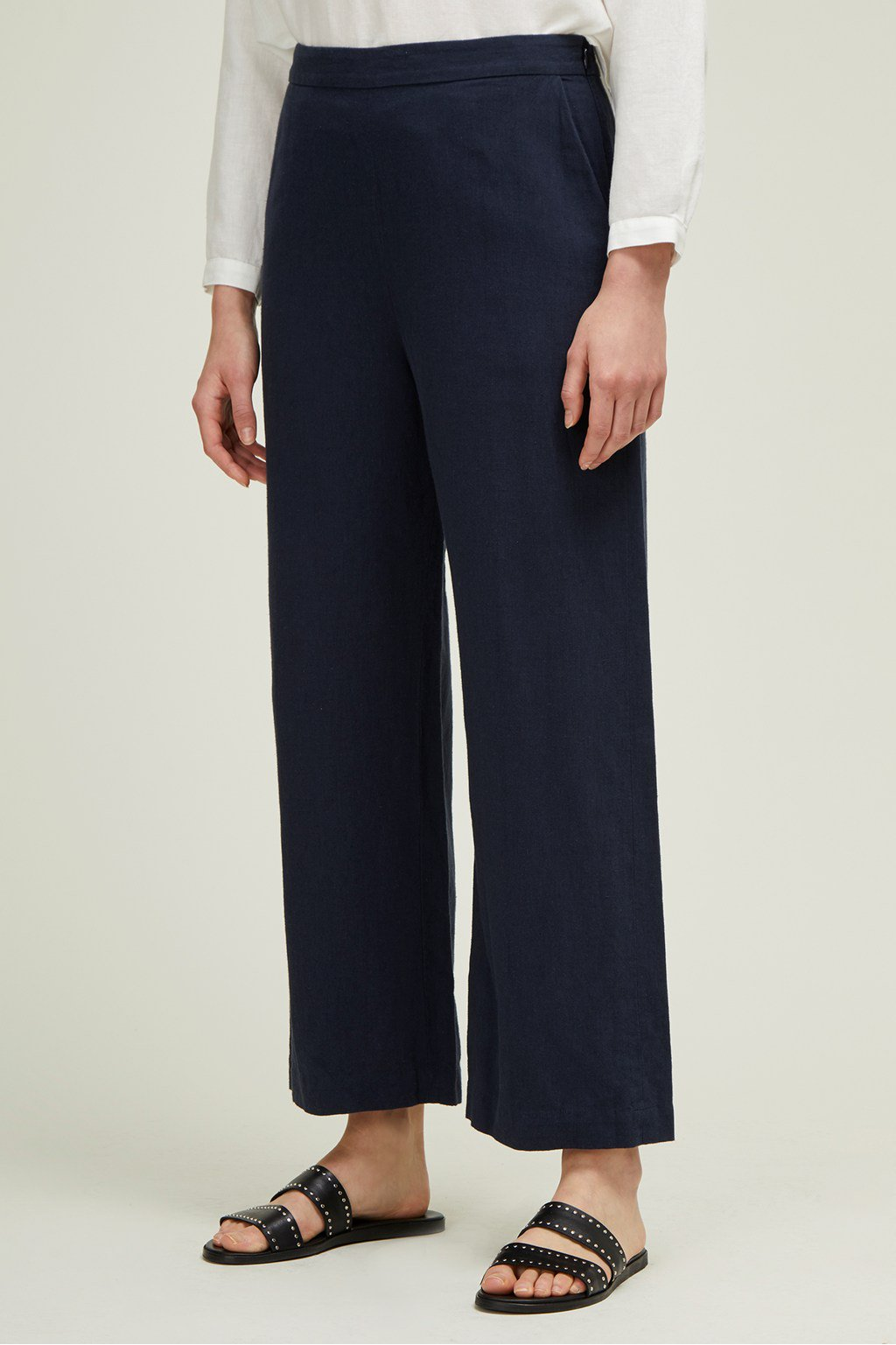 Great Plains Dana Blend Wide Leg Trouser in Dark Navy