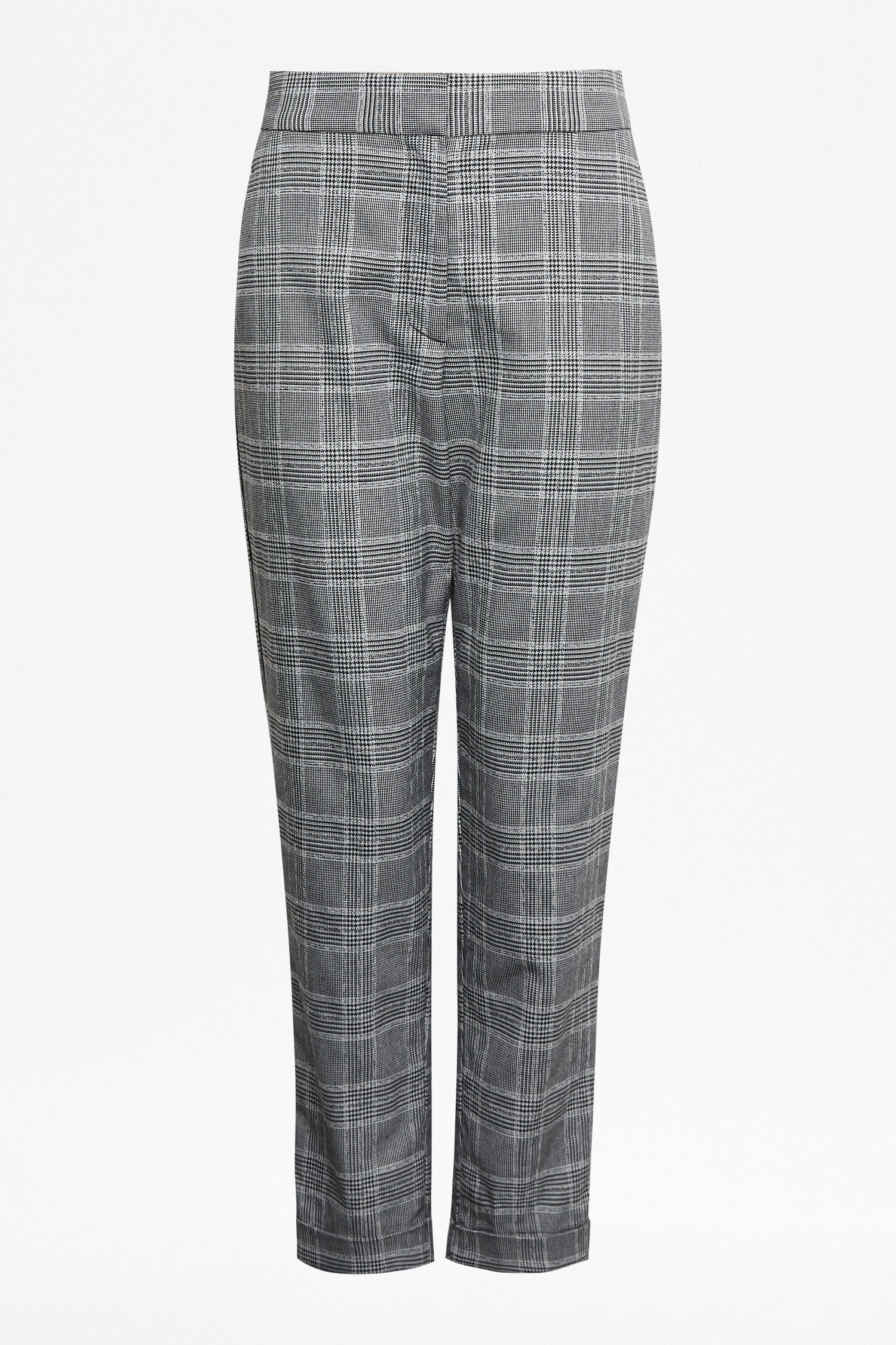 Great Plains Paradis Check Trousers for Ladies in Black