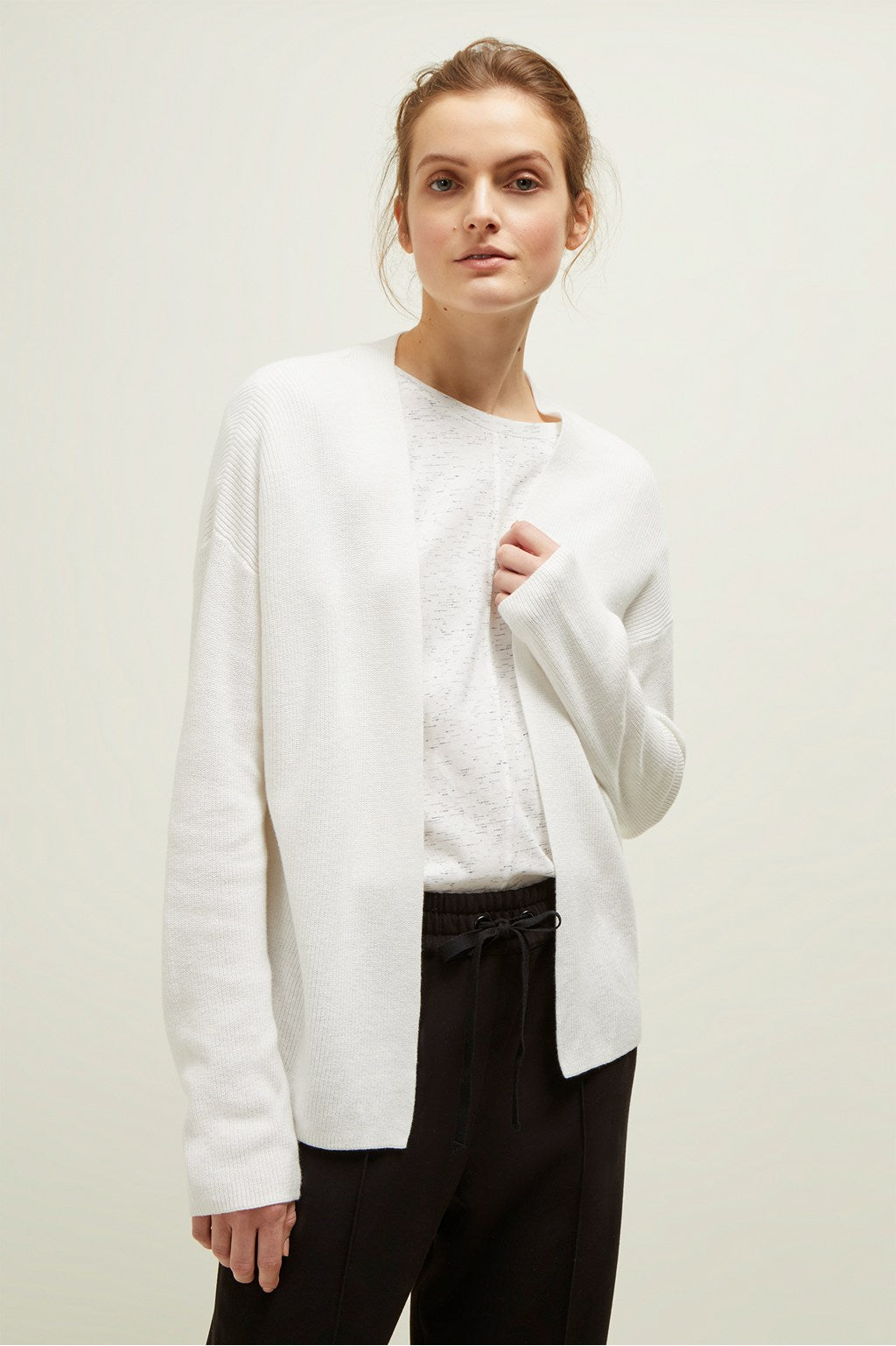 Great Plains All Need Long Sleeved Cardigan in Milk