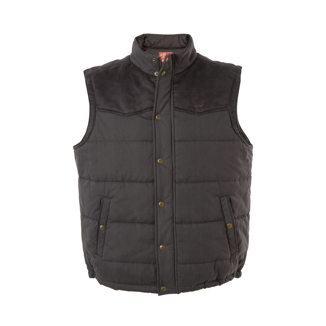 R M Williams Carnarvon Gilet for Men in Chocolate