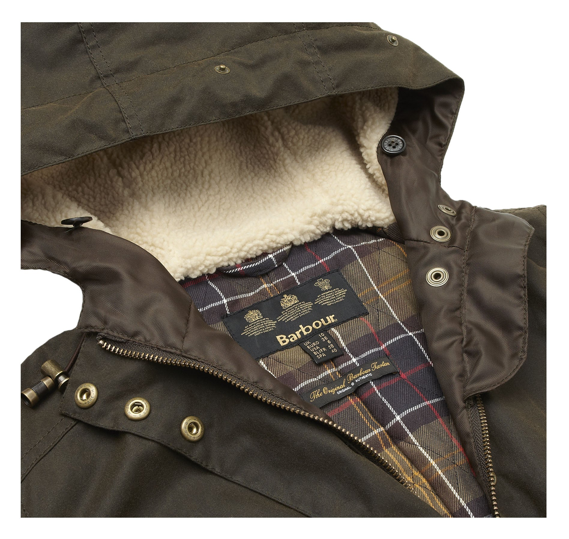 Barbour Kelsall Waxed Jacket for Ladies in Olive