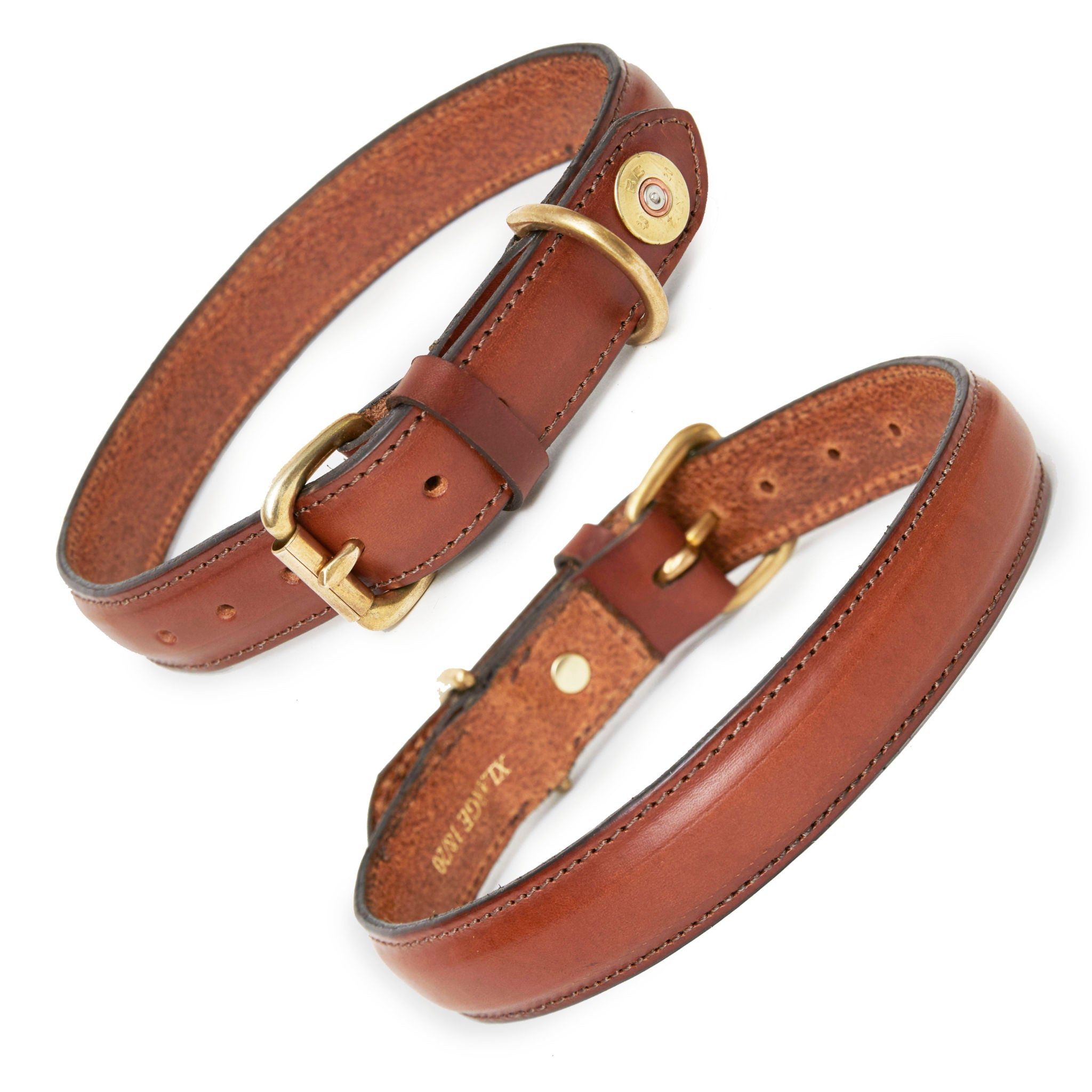 Hicks and Hides Laverton Field Dog Collar in Cognac
