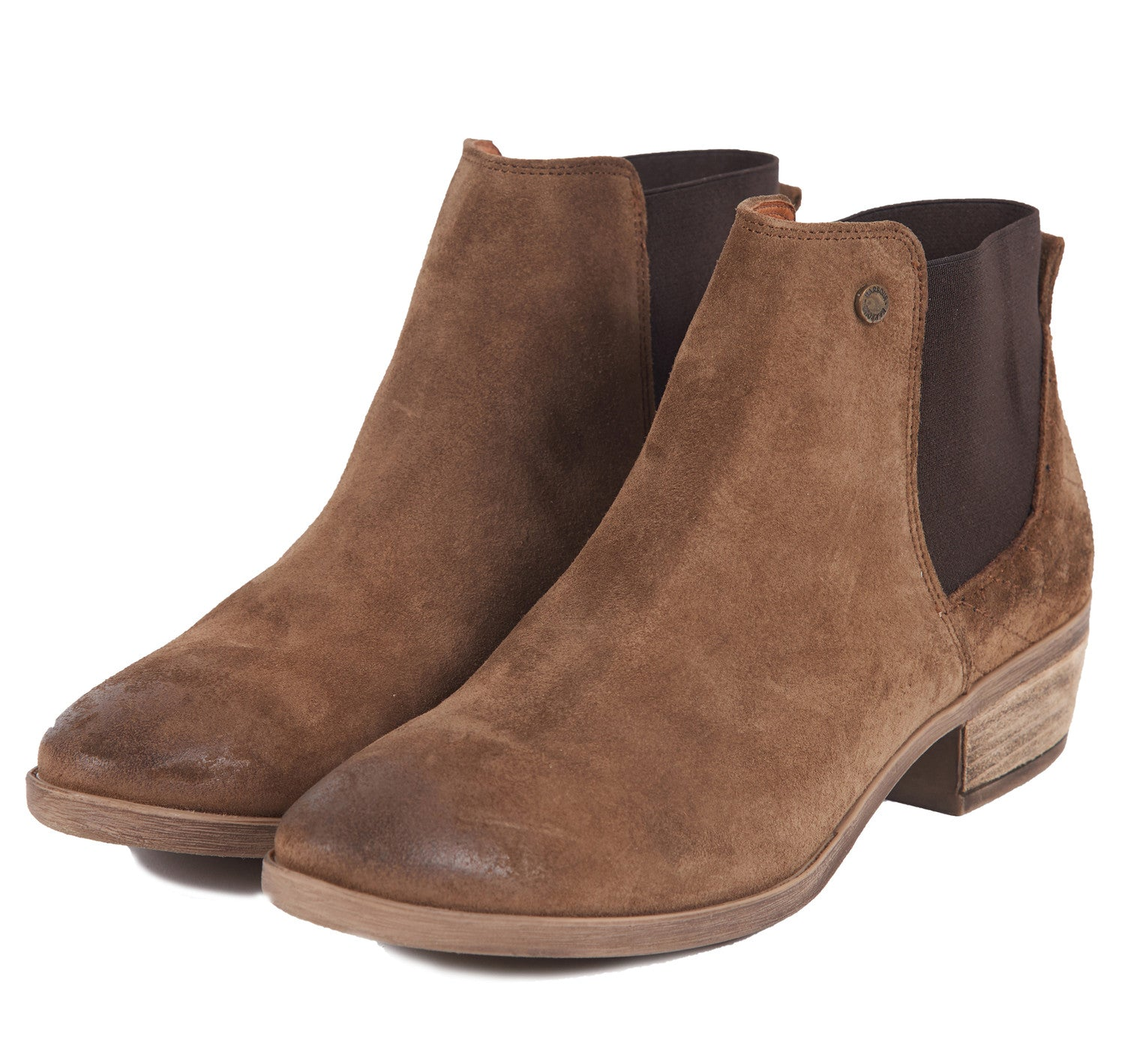 Barbour Vanessa Suede Boots for Ladies in Tobacco