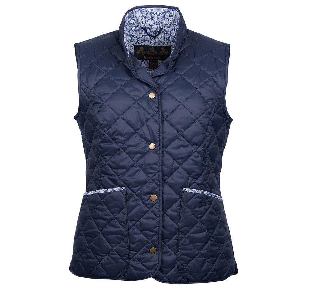 Barbour Camila Gilet for Ladies in Navy/Mortimer