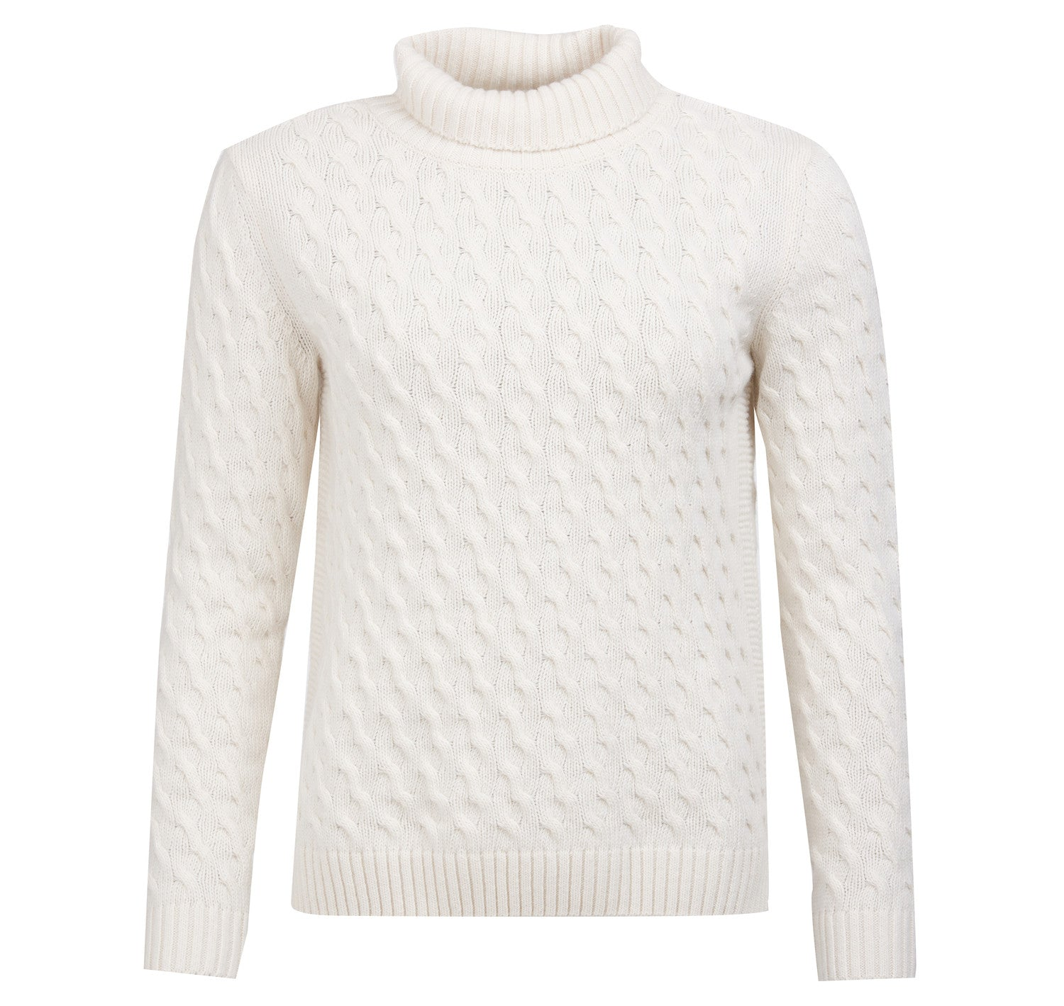 Babour Burne Roll Collar Knit for Ladies in Off White
