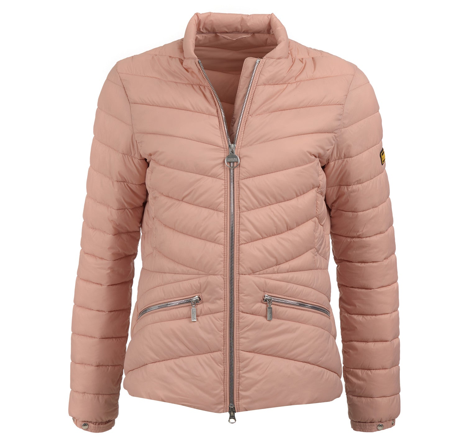 Barbour International Court Quilt for Ladies in Nude