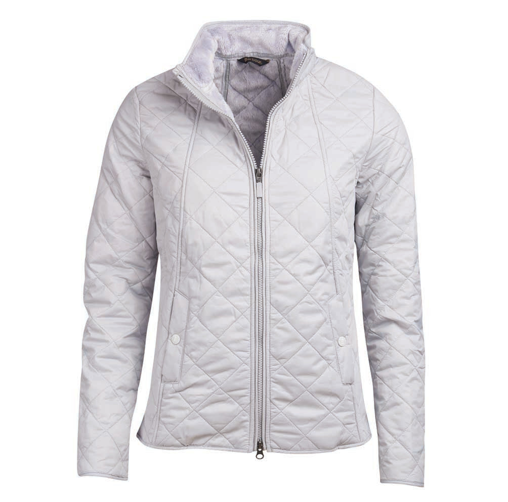 Barbour Backstay Quilted Jacket for Ladies in Ice White