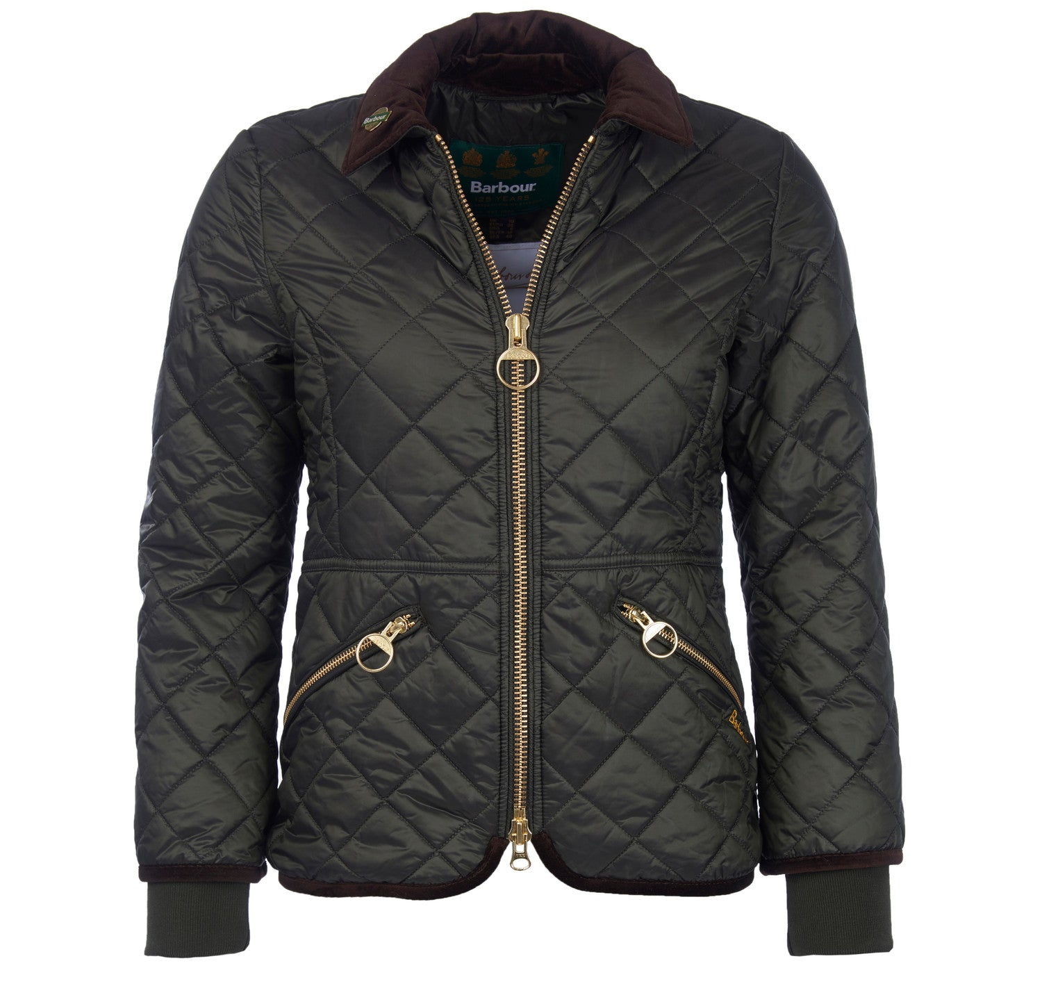 Barbour Icons Liddesdale Quilt for Ladies in Sage