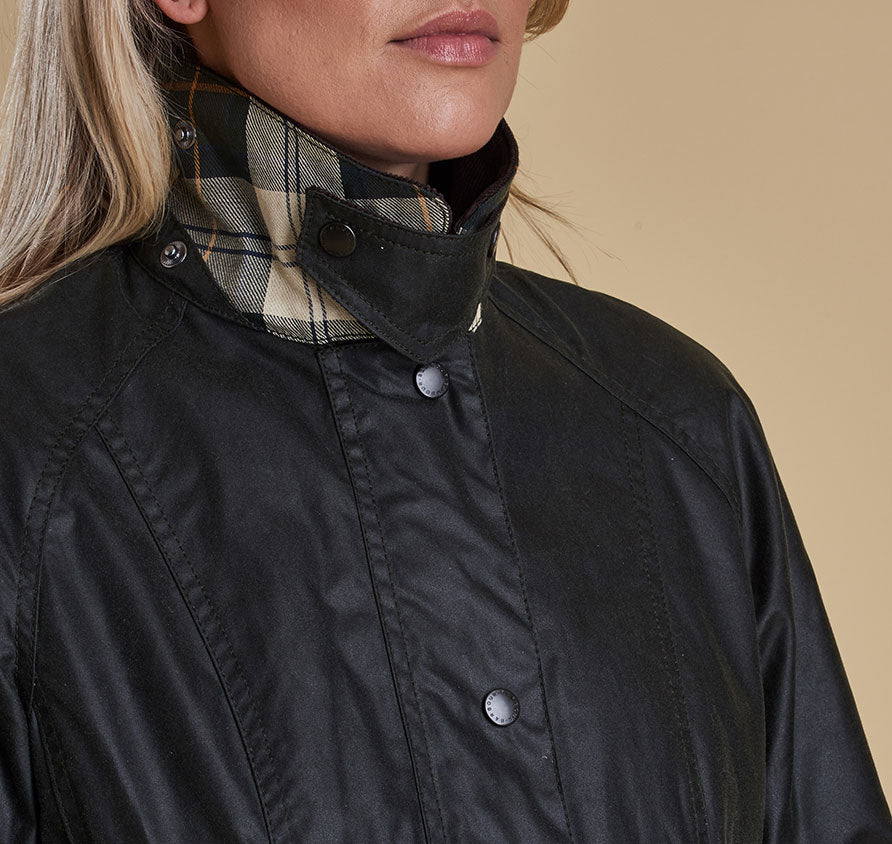 Barbour Beadnell Wax Jacket for Ladies in Sage