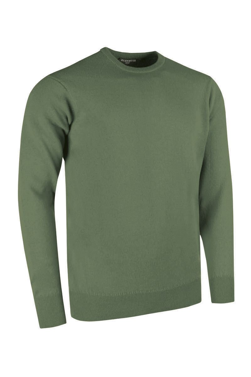 Glenmuir Morar Crew Neck Lambswool Sweater for Men in Landscape
