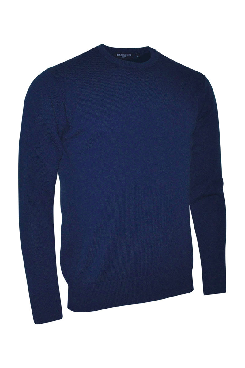 Glenmuir Morar Crew Neck Lambswool Sweater for Men in Navy