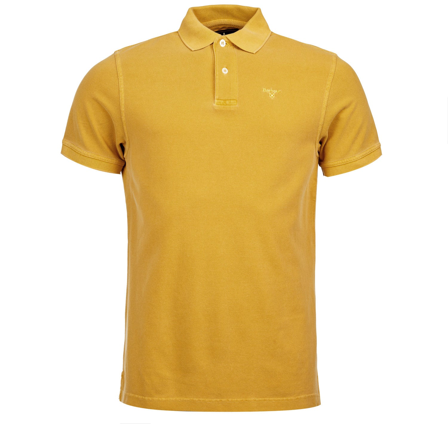 Barbour Washed Sports Polo for Men in Mustard