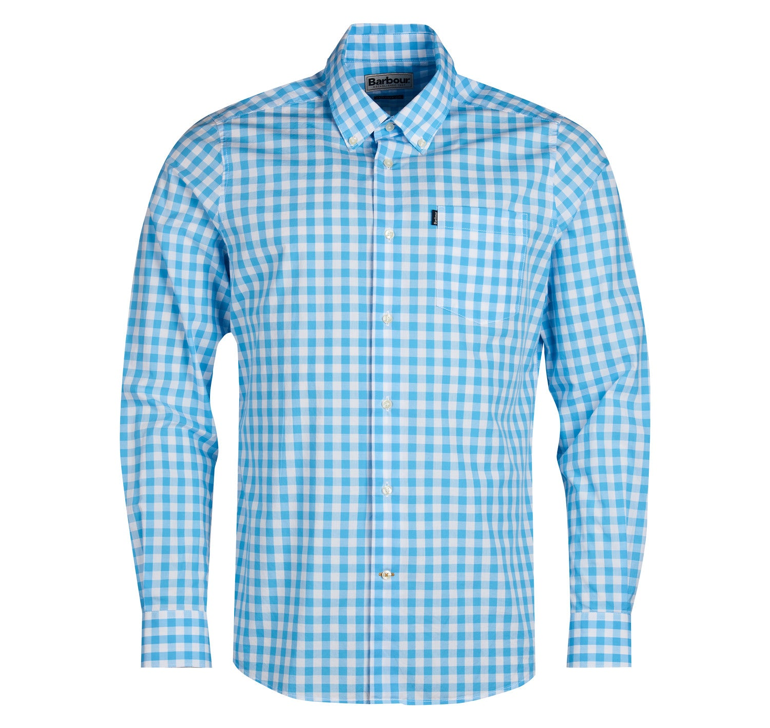 Barbour Gingham 3 Long Sleeved Shirt for Men in Pale Blue