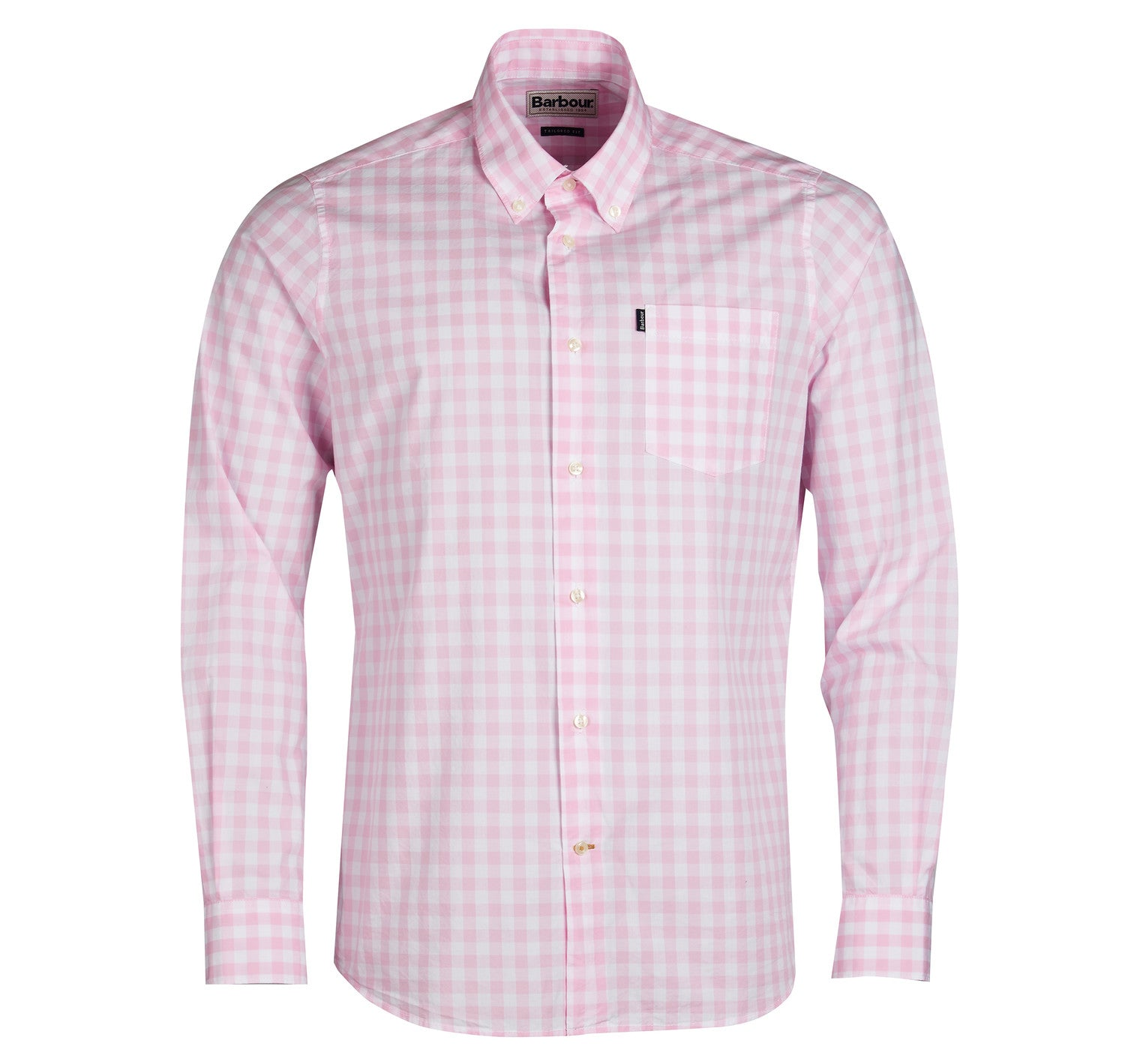 Barbour Gingham 3 Long Sleeved Shirt for Men in Pink