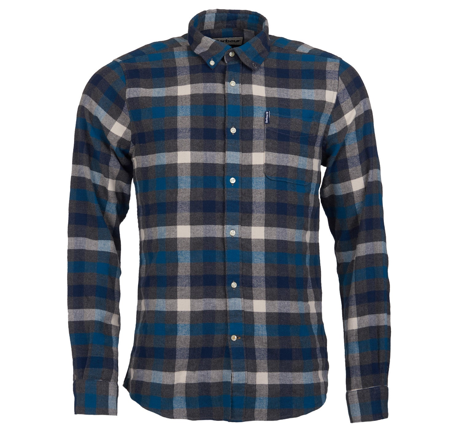Barbour Country Check 5 Tailored Shirt for Men in Blue
