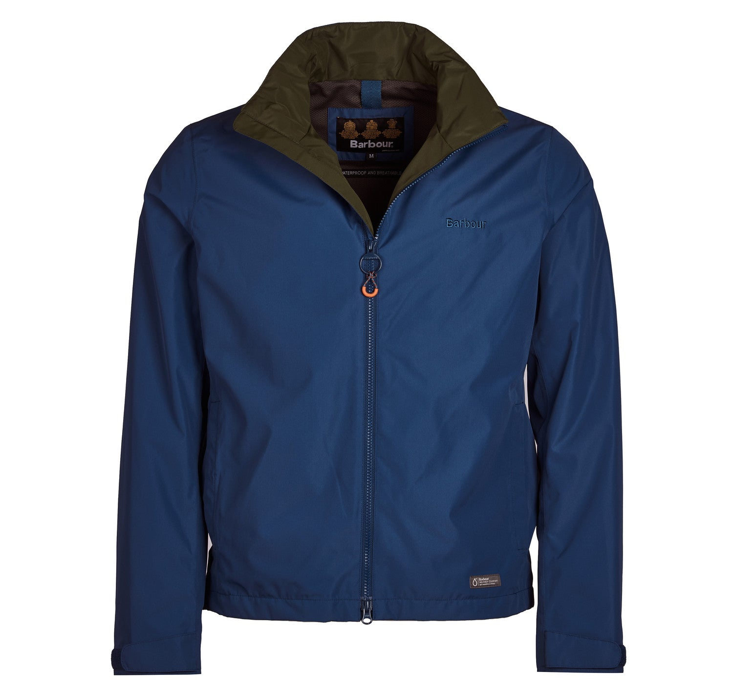 Barbour Rye Waterproof Jacket for Men in Peacock Blue