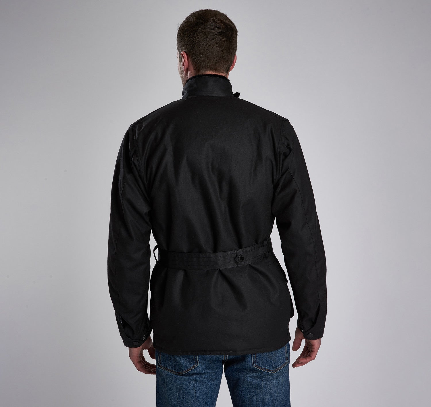 Barbour Icons International Wax Jacket for Men in Black