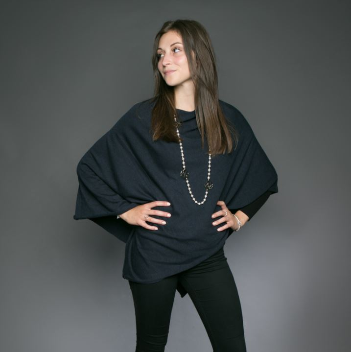 Tilley and Grace Tilley Poncho for Ladies in Navy Blue