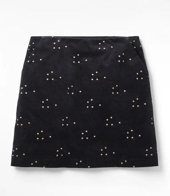 White Stuff New Star Velvet Cloud Skirt for Ladies in Navy