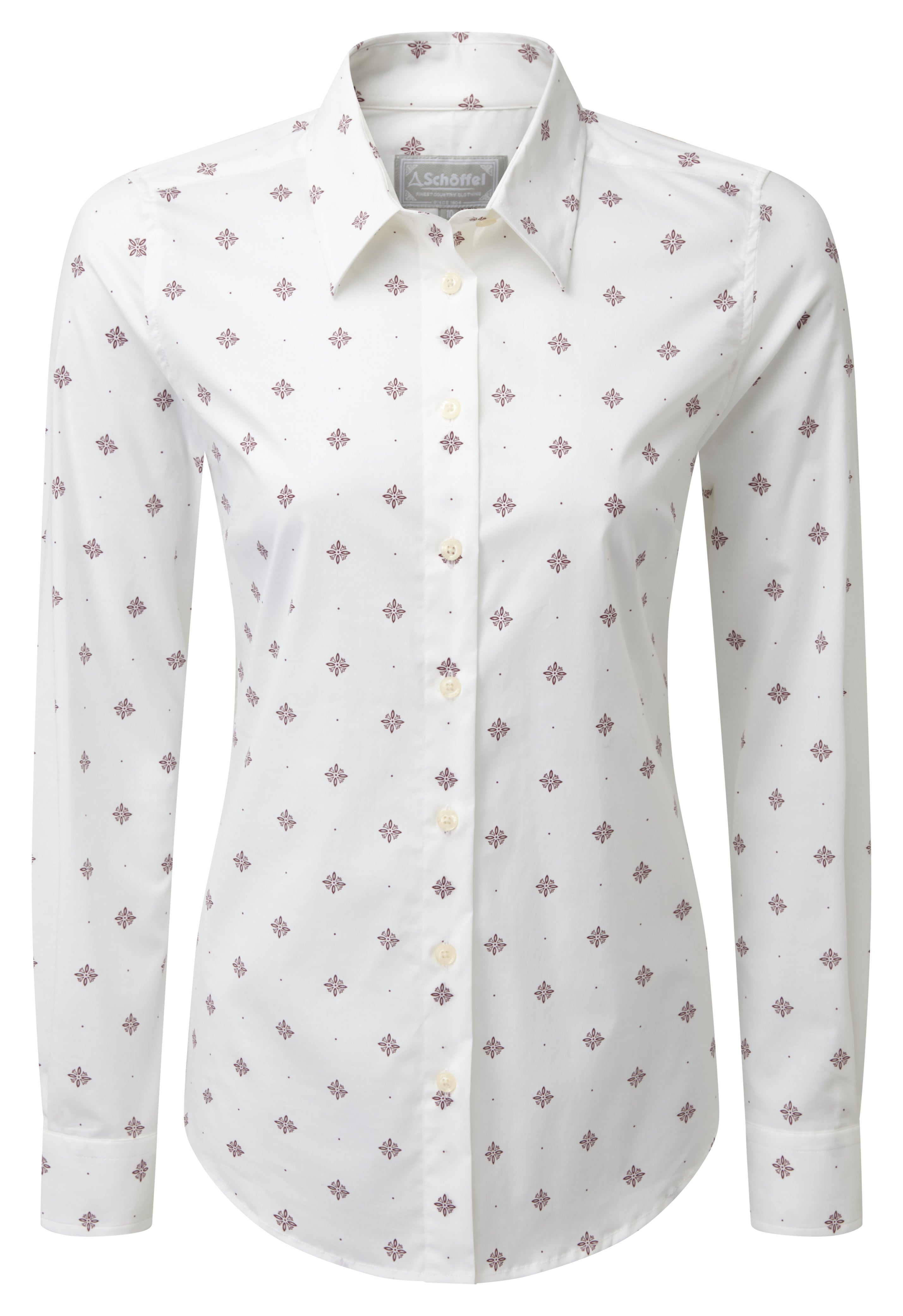 Schoffel Norfolk Shirt for Ladies in Fig Bluebell