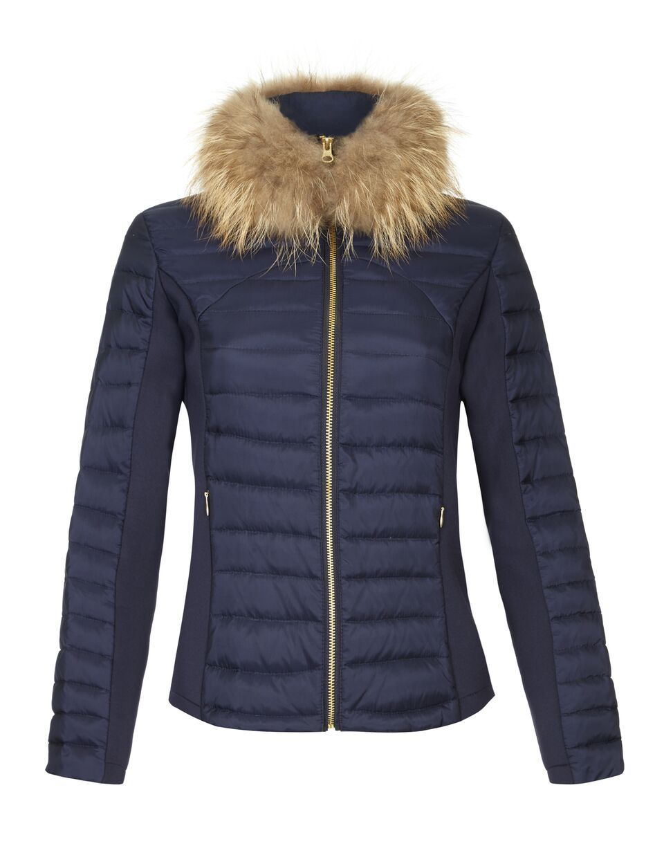 Guinea Short Padded Puffer Jacket for Ladies in Navy