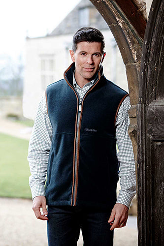 Schoffel Oakham Fleece Gilet for Men in Kingfisher
