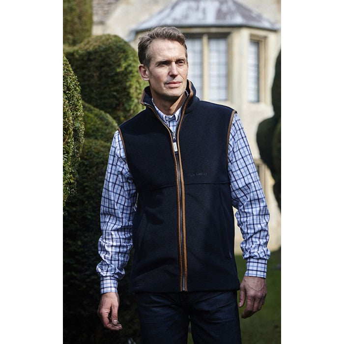 Schoffel Oakham Fleece Gilet for Men in Navy