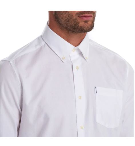 Barbour Oxford 8 Tailored Fit Shirt for Men in White