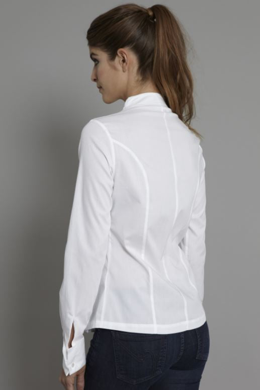 The Shirt Company Penelope Pleat front Shirt for Ladies in White