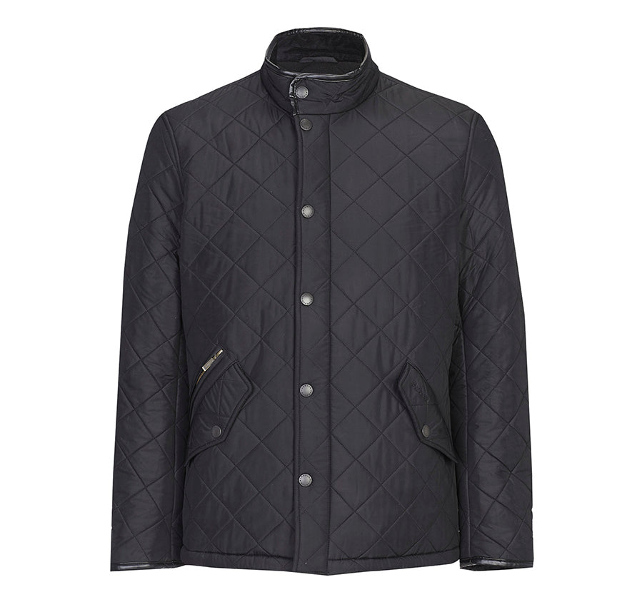 Barbour Powell Quilted Jacket for Men in Black