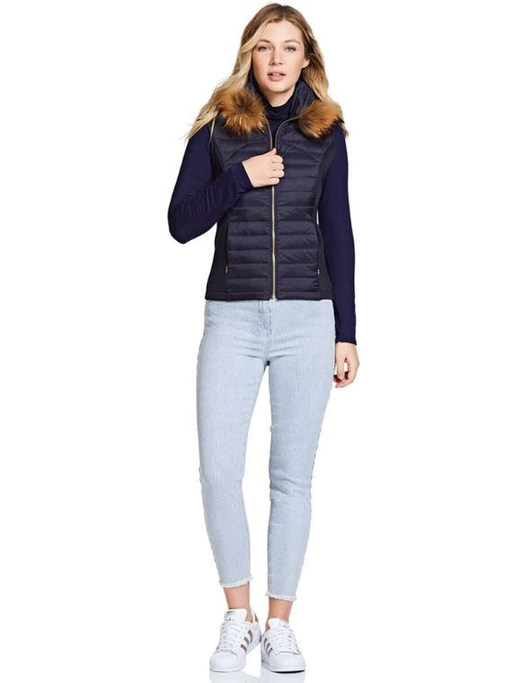 Guinea Puffer Gilet for Ladies in Navy