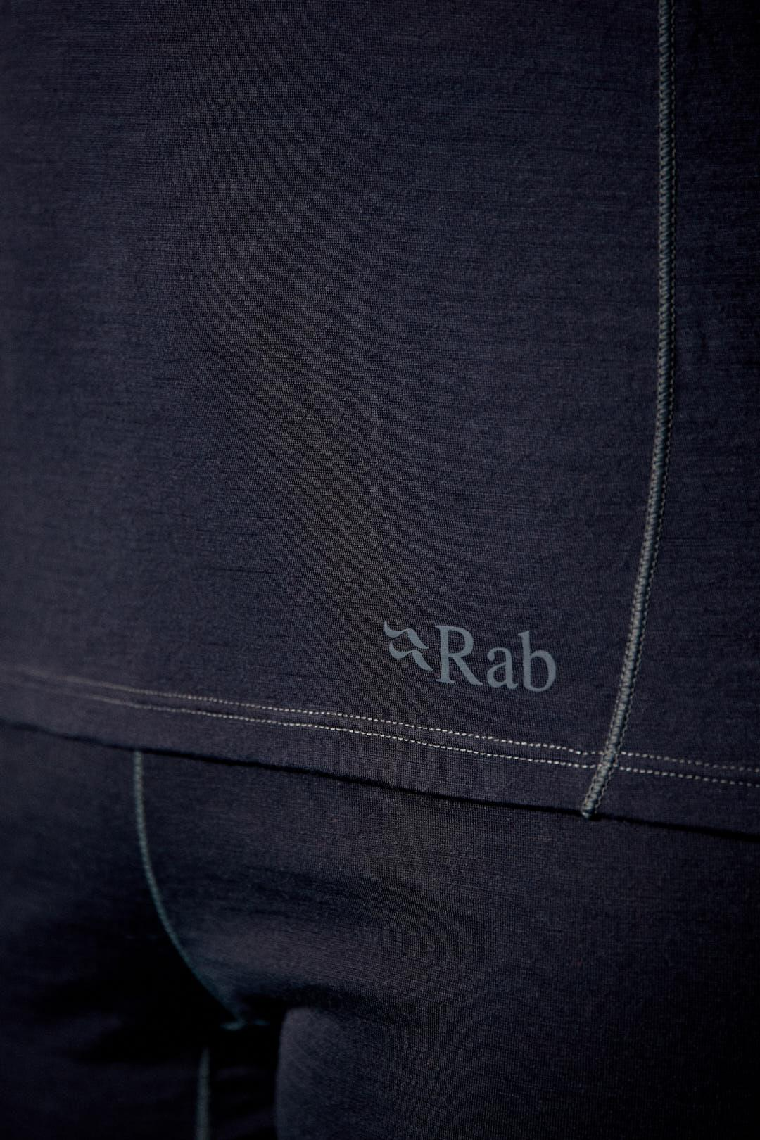 Rab Merino 120 Log Sleeved Zip Sweater for Ladies in Ebony