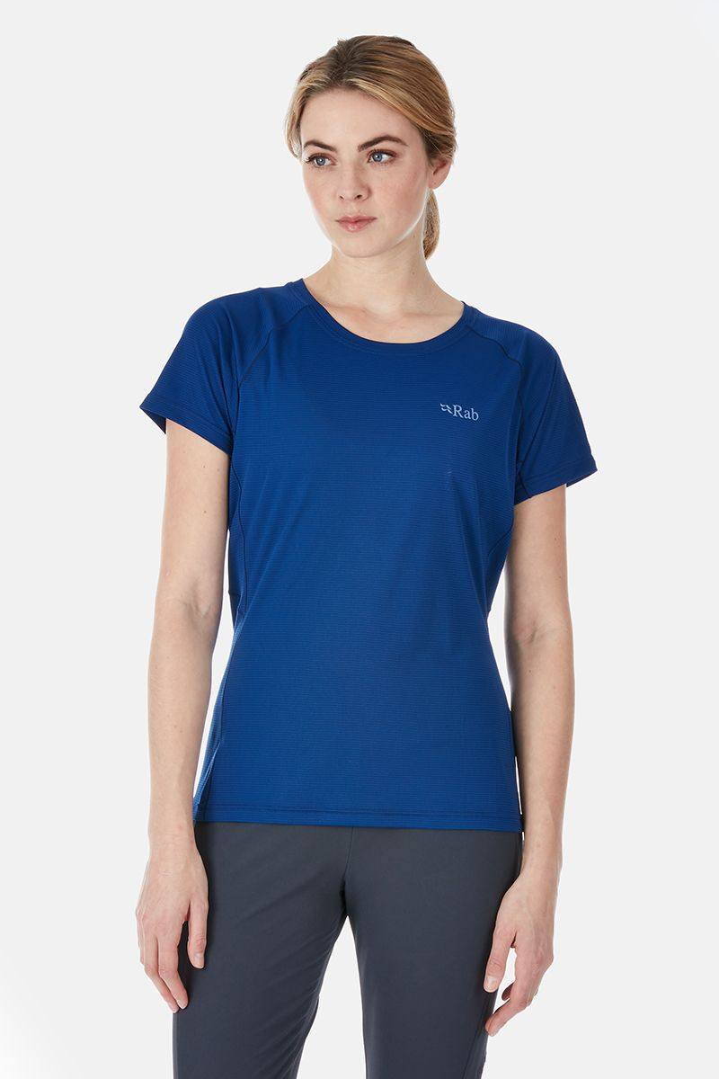 Rab Pulse Tee for Ladies in Blueprint