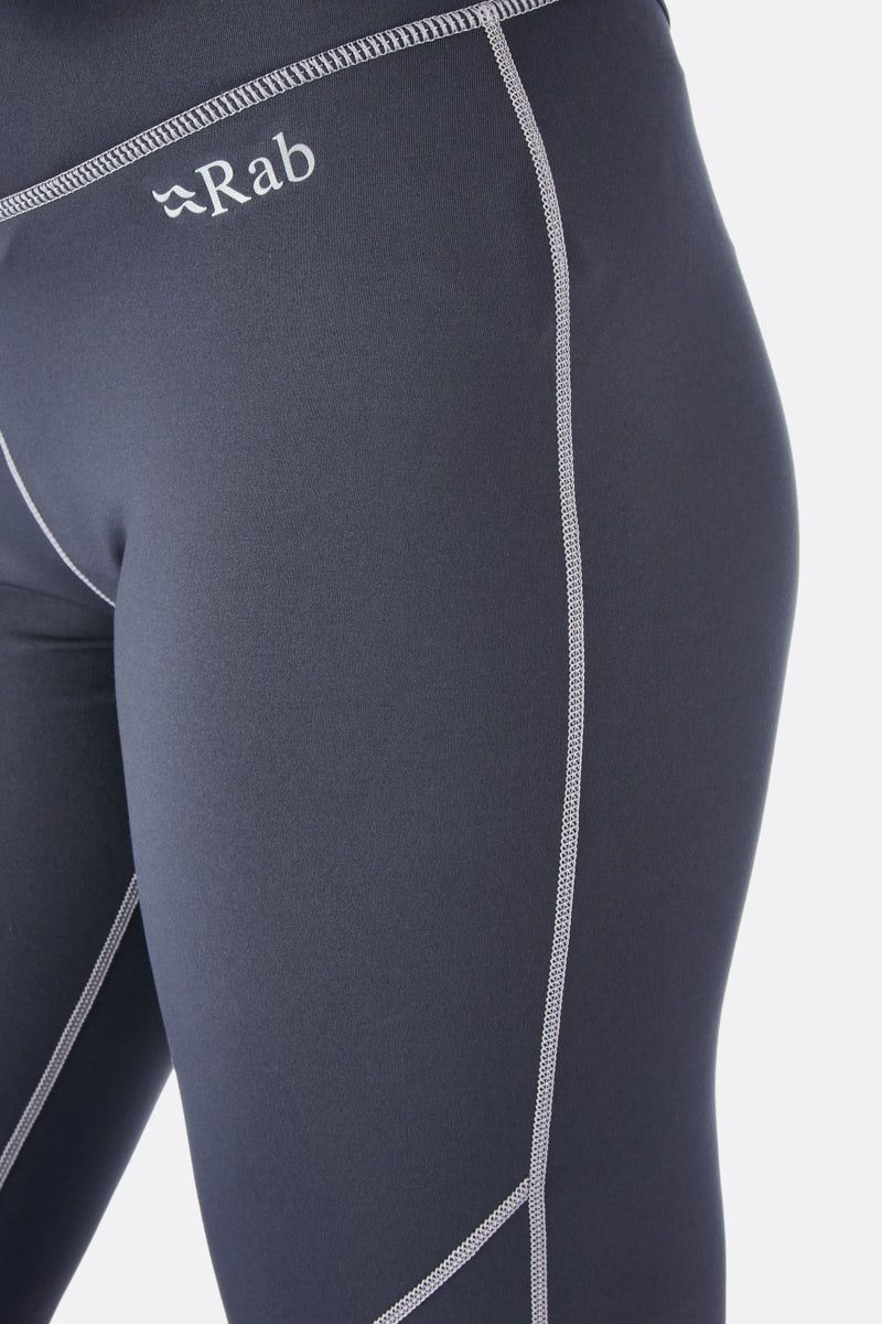Rab Flux Baselayer Pants for Ladies in Beluga