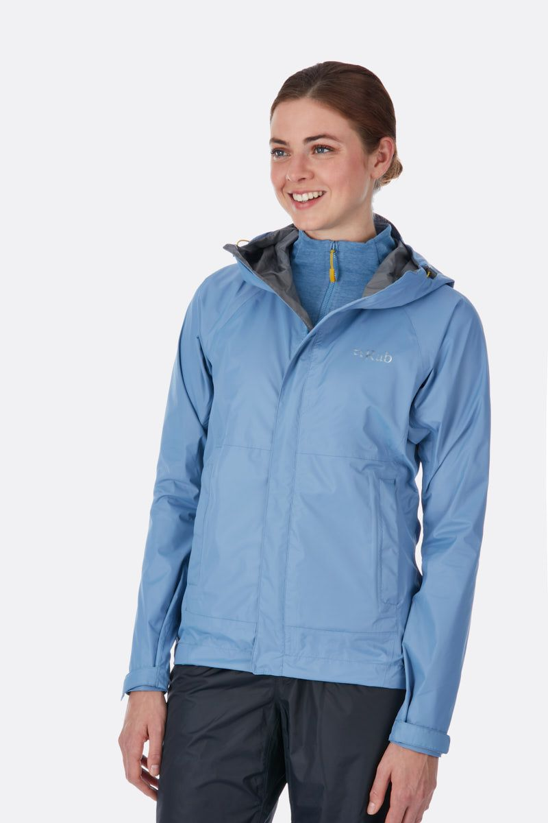 Rab Downpour Jacket for Ladies in Thistle