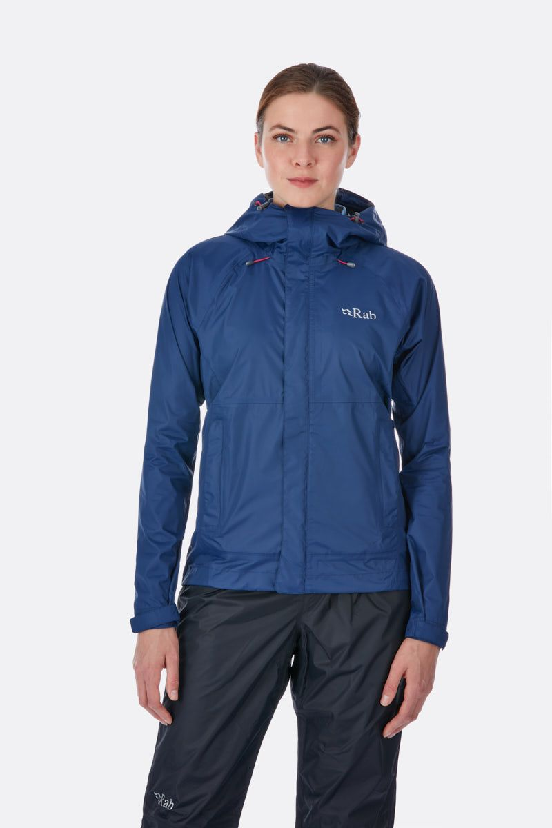 Rab Downpour Jacket for Ladies in Twilight