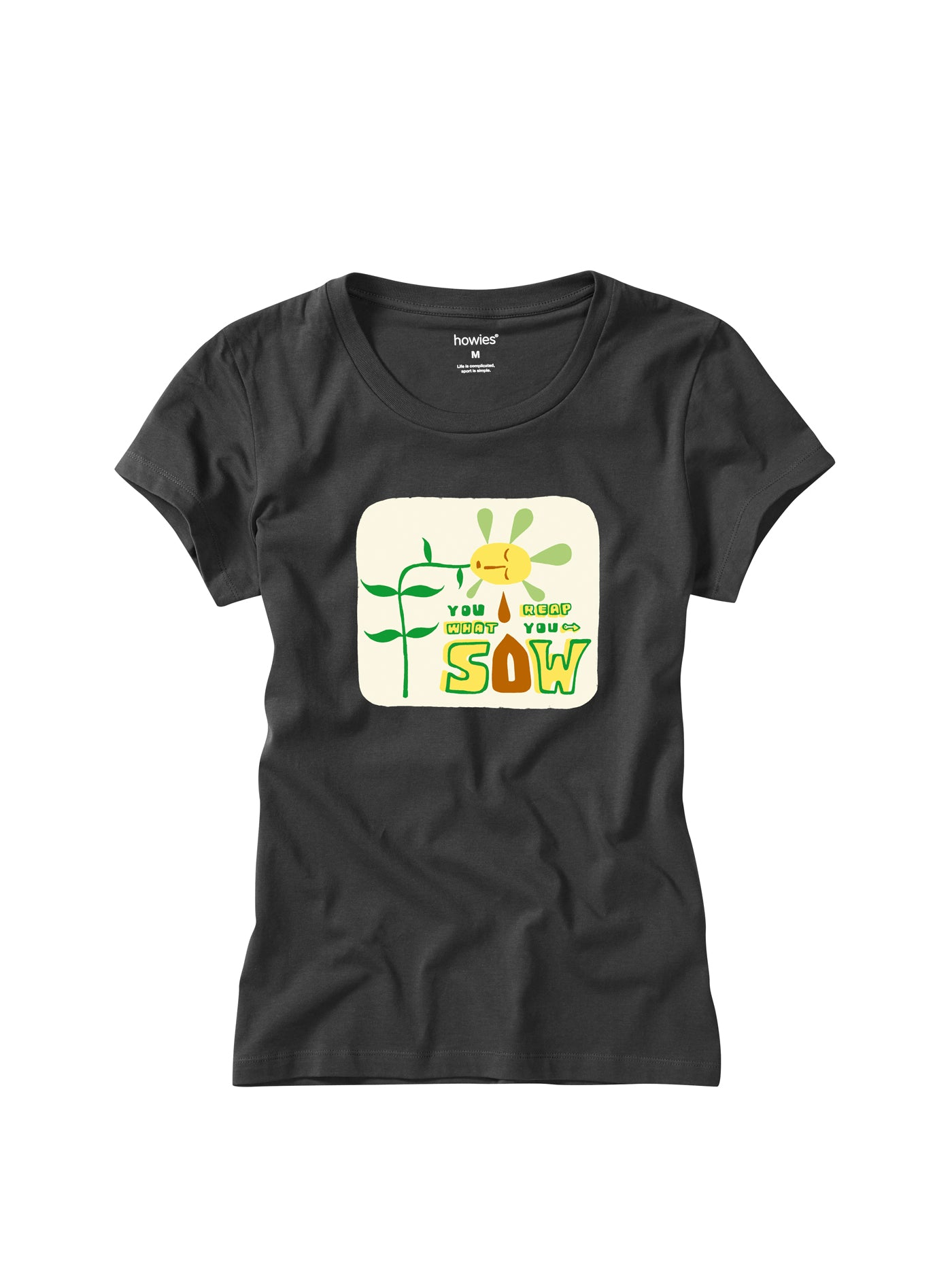 Howies Reap What You Sow Tee for Ladies in Black