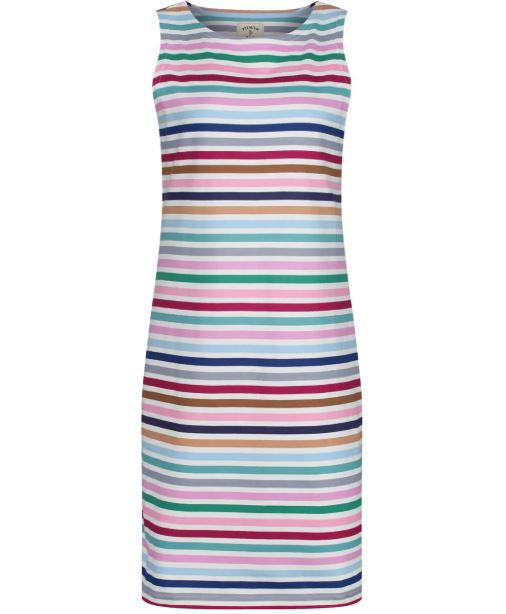 Joules Riva Sleeveless Jersey Dress for Ladies in Multi Stripe