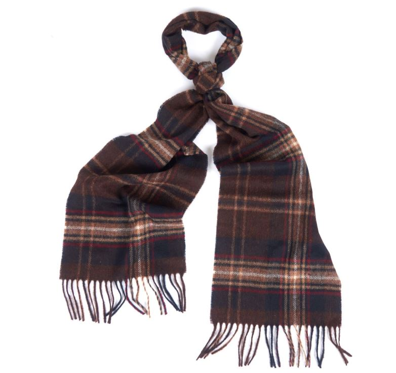 Barbour Rothwell Scarf in Rust/Brown